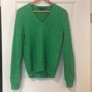 Green Ralph Lauren Sport Sweater